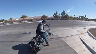 Motorcycle helping others