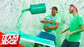 Water Bottle Flip Returns Challenge! | Slime Punishment Edition!!