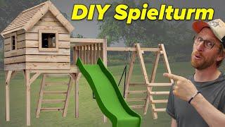 Spielturm mit Rutsche selber bauen | Der hält alles aus!