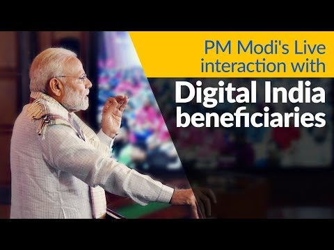 PM Modi interacts with beneficiaries of Digital India programme across the Nation, via VC