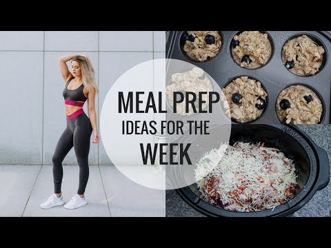 Video Meal Prep For The Week | 3 Easy, Quick Recipes
