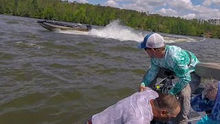 Man THROWN from Boat going FULL Speed