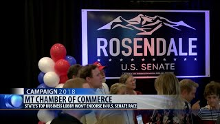 Chamber of Commerce declines to endorse a candidate in MT's U.S. Senate race