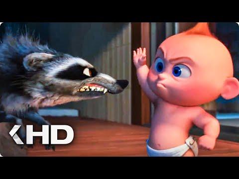 Jack Jack vs Raccoon Fight Scene - Incredibles 2 (2018)