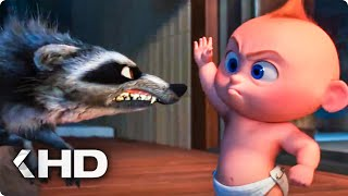 Jack Jack vs Raccoon Fight Scene - Incredibles 2 (2018)