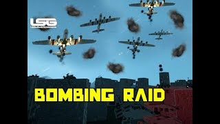 Bombing Raid Vs Flak Battery WW2 - Space Engineers