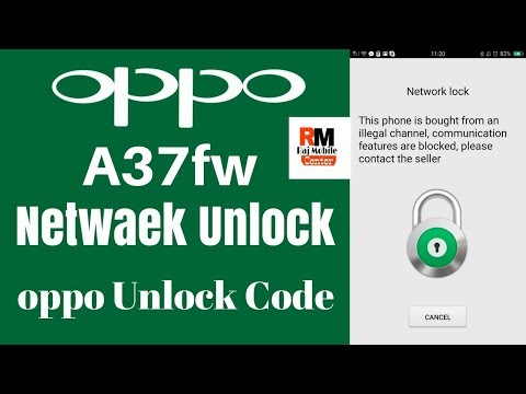Oppo A37fw Network Unlock Without Flash No Risk Only 3mb file Job