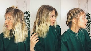 EASY + CUTE HAIRSTYLES FOR SHORT HAIR