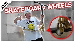 Mit Skateboard Wheels SCOOTER Fahren!