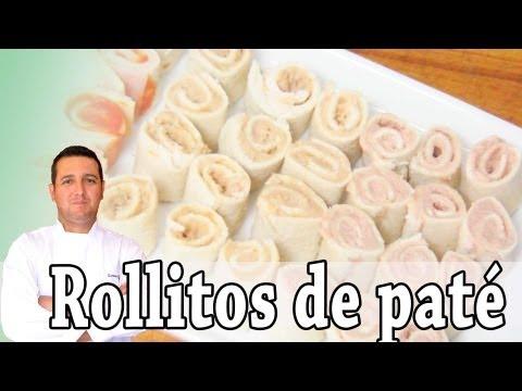 Rollitos de paté - Aperitivos III - Recetas de cocina
