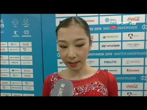 Elizabet TURSYNBAEVA - Interview 4S, Universiade 2019 [Full HD]
