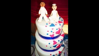 preview picture of video 'Fairytale Hearts Wedding Cake'