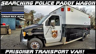 Searching A Police Paddy Wagon Prisoner Transport Van!