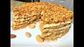 Ореховый Торт БЕЛОЧКА без выпечки. Самый ЛЕНИВЫЙ ТОРТ  за минуты для занятых людей.