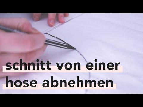 DIY | Schnitt von einer Hose abnehmen | Auch für Anfänger