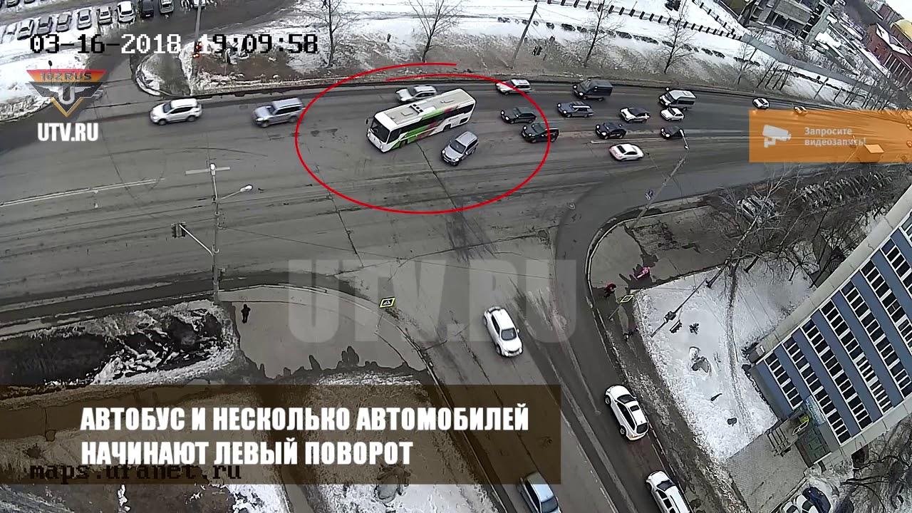 Водитель PORSCHE устроил массовое ДТП в Уфе