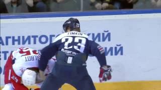 KHL Fight: Timkin VS Talbot