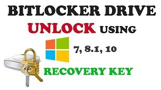How to unlock encrypted BitLocker Drive Without Password Through Recovery Key