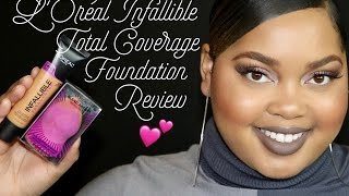 L'Oreal Total Cover Foundation Review + Demo + Wear Test | KelseeBrianaJai