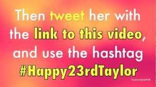 Happy 23rd Birthday Taylor 2
