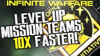 How to RANK UP MISSION TEAMS 10x FASTER! 1 LEVEL EVERY 20 MINUTES! (not clickbait)