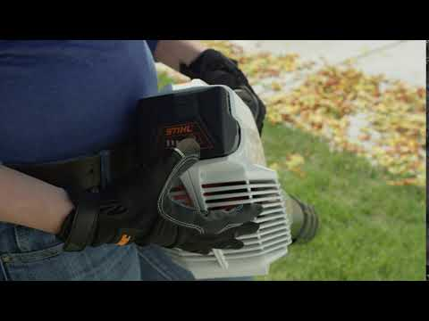 Stihl BGA 56 in Calmar, Iowa - Video 1