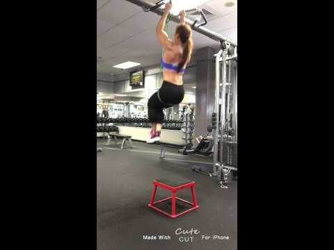 Neutral Grip Band Assisted Pull-Up with Knees Up