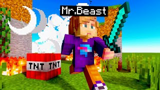 Beating Minecraft But I Explode Every Minute