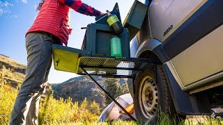 TAILGATER TIRE TABLE REVIEW: A Camp Table That Mounts to All Car, Truck, & Van Wheels