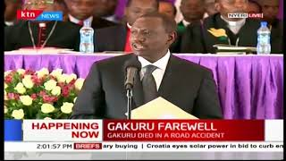 DP William Ruto introduces dignitaries in attendance at the late Gakuru's farewell
