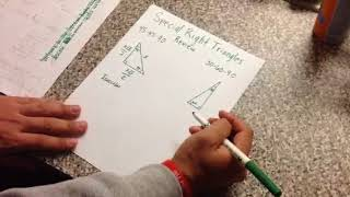 Explain Everything: Special Right Triangles