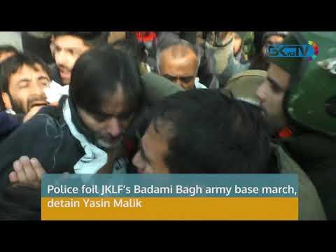 Police foil JKLF's Badami Bagh army base march, detain Yasin Malik