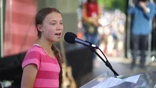 Greta Thunberg at the Global Climate Strike in New York City   YouTube 360p