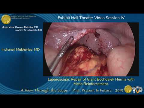 Laparoscopic Repair of Giant Bochdalek Hernia with Mesh Reinforcement