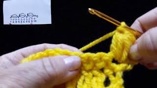 27 Урок. Кромочные горизонтальные  пышные столбики. Техника быстрого вязания. Крючок для начинающих.