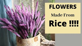 DIY Flower Making From Rice / Easy Flower Making Tutorial By Aloha Crafts