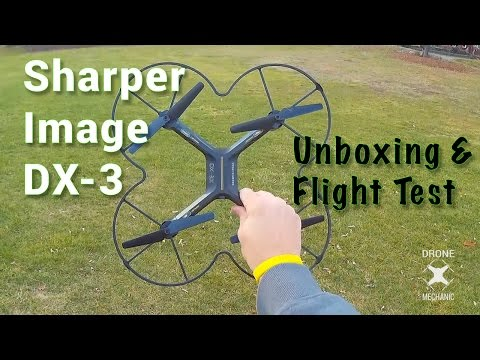 Sharper Image Dx 3 Quadcopter Drone Mechanic Unboxing And Flight Test