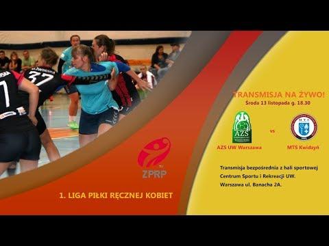 1. liga piłki ręcznej kobiet AZS UW Warszawa vs MTS Kwidzyń [13.11.2019]