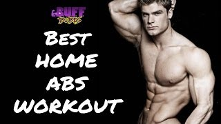 Best Home Ab Workout - 5 Easy Abs Exercises by Buff Dudes