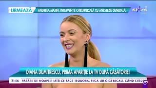 Diana Dumitrescu, Prima Apariție La TV După Căsătorie: A Fost  Nunta Pe Care Am Visat-o