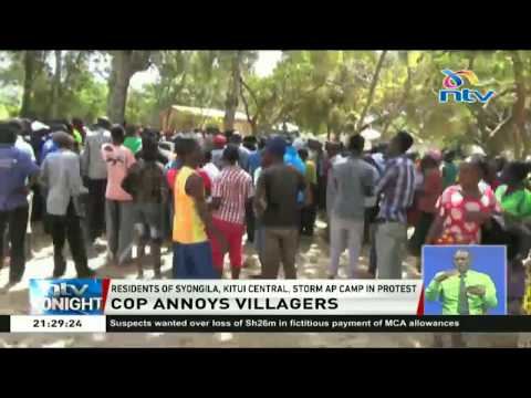 Residents of Syongila, Kitui central storm AP camp in protest over infidelity