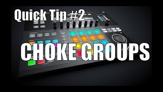 Maschine 2.0 Studio Quick Tip: Cut samples off using Choke Groups