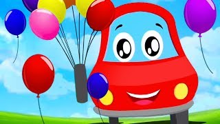 Blowing Balloons | Little Red Car Videos For Babies | Cars For Toddlers
