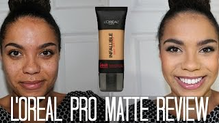 L'Oreal Pro Matte Foundation: Oily Skin Diaries | samantha jane