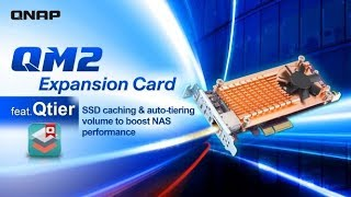 QM2 Expansion Card feat. Qtier: SSD caching & auto-tiering volume to boost NAS performance
