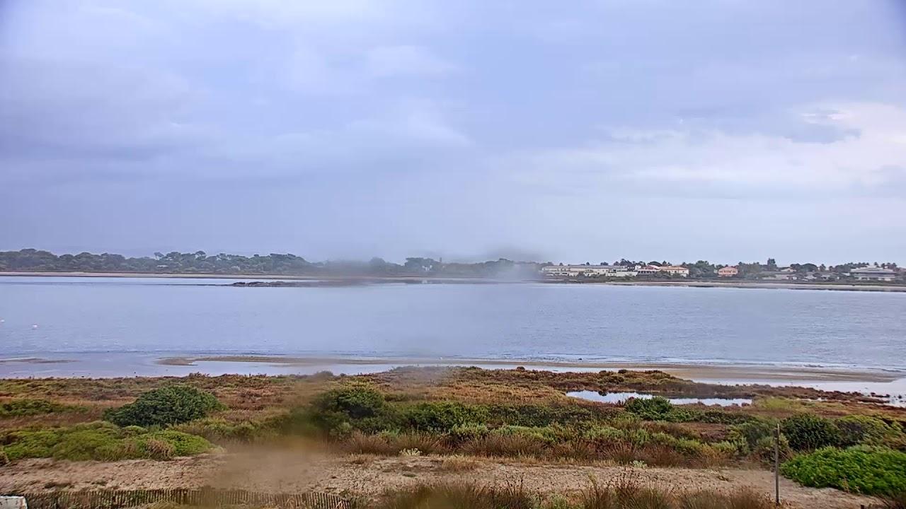 Webcam touristique en direct de la plage les estagniers, au sud de la plage de l'Almanarre à Hyères