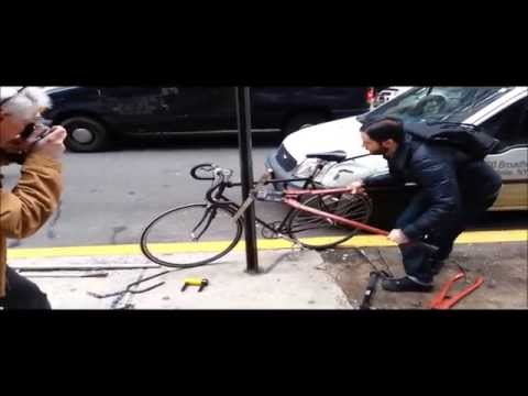 Eye of the TiGr: Titanium Bike Lock vs. NYC