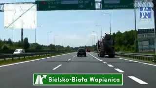 preview picture of video 'S1: Bielsko-Biała - CZ Granica (3x)'