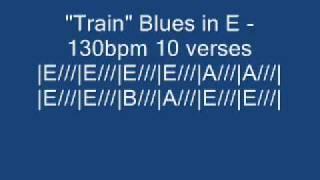 "Video thumbnail of ""Guitar Backing - Train blues in E"""