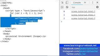 JavaScript Tutorial Part 1 - Lexical Environment